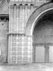 Cathédrale Saint-Etienne - Portail de la façade nord : ébrasement extérieur gauche