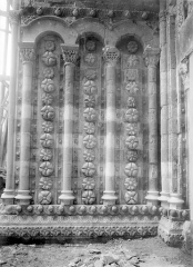 Cathédrale Saint-Etienne - Portail de la façade nord : ébrasement intérieur gauche