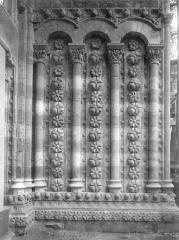 Cathédrale Saint-Etienne - Portail de la façade nord : ébrasement intérieur droit