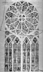 Cathédrale Saint-Julien - Relevé de vitrail du transept nord