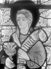 Cathédrale Saint-Julien - Relevé de panneau de vitrail (détail) : tête de saint