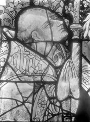 Cathédrale Saint-Julien - Relevé de panneau de vitrail (détail) : tête