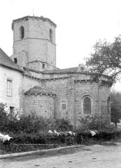 Eglise Saint-Hilaire et ancien monastère - Abside et clocher, côté sud