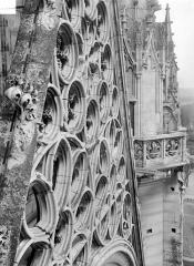 Château de Vincennes et ses abords - Chapelle, côté ouest : partie supérieure de la rose