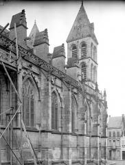 Cathédrale Saint-Lazare - Façade nord : partie ouest