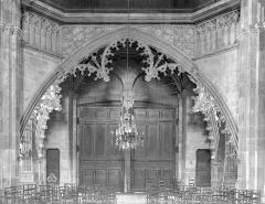 Cathédrale Saint-Lazare - Tribune du buffet d'orgue