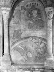 Château des Moines de Cluny - Chapelle : peintures murales