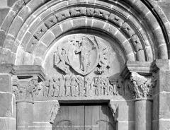 Eglise Saint-Pierre Saint-Paul - Portail de la façade ouest : tympan