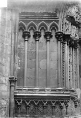 Basilique Saint-Denis - Portail du transept sud : arcatures de l'ébrasement gauche