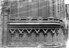 Basilique Saint-Denis - Portail du transept sud : Arcatures du soubassement