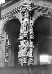 Eglise - Baptistère Renaissance : Détail des sculptures