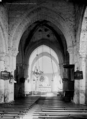 Eglise Saint-Hilaire et ancien monastère - Vue intérieure de la nef vers le choeur