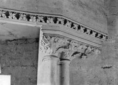 Château de Vincennes et ses abords - Donjon : Détail de cheminée