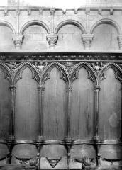 Cathédrale Saint-Pierre - Stalles du choeur : Détail du dorsal