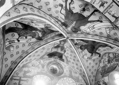 Eglise de la Nativité - Peintures murales du choeur, voûtains : Le Christ et les symboles des évangélistes