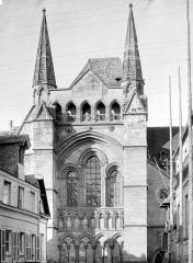 Eglise Saint-Pierre, ancienne cathédrale - Transept sud : Partie supérieure de la façade