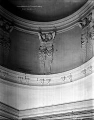 Domaine national : Château de Maisons-Laffitte - Chambre de la reine : Détail de la coupole