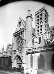 Eglise Saint-Germain-l'Auxerrois - Façade sud : Transept et clocher