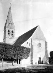 Eglise Saint-Martin - Façade ouest et clocher