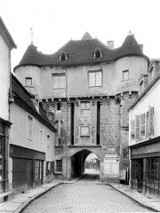 Enceinte de la ville - Porte Sauvigny : Vue d'ensemble extra-muros