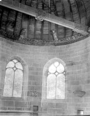Château de Kerjean, actuellement Musée breton - Chapelle : Fenêtres et charpente du choeur