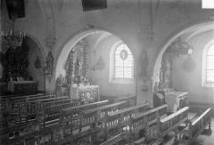 Eglise - Vue intérieure de la nef, côté sud : Grandes arcades
