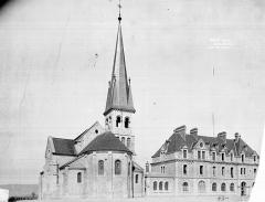 Prieuré de Binson - Ensemble est : Eglise et bâtiment abbatial