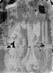 Ancienne chartreuse de Champmol, actuellement centre psychothérapique de Dijon - Portail de la chapelle : Statues du piédroit gauche