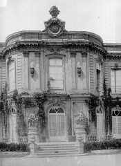 Château - Façade est : Pavillon central