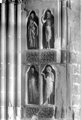 Cathédrale Notre-Dame - Revers du portail nord de la façade ouest : Statues, côté sud, 3e et 4e registres