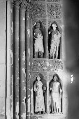 Cathédrale Notre-Dame - Revers du portail sud de la façade ouest : Statues, côté sud, 3e et 4e registres