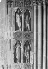 Cathédrale Notre-Dame - Revers du portail sud de la façade ouest : Statues, côté nord, 3e et 4e registres