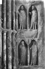 Cathédrale Notre-Dame - Revers du portail sud de la façade ouest : Statues, côté sud, 1e et 2e registres