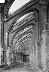 Cathédrale Notre-Dame - Façade nord : Arcs-boutants et sommets des voûtes des chapelles de la nef, vus vers l'est