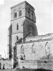 Eglise - Façade sud : Clocher