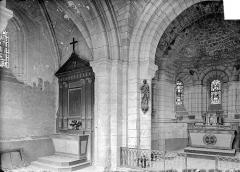 Eglise - Vue intérieure du choeur et du transept