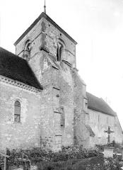 Eglise - Façade nord : Clocher
