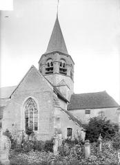 Eglise Saint-Alpin - Façade sud : Transept et clocher