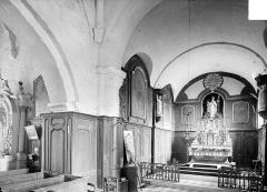 Eglise Saint-Alpin - Vue intérieure du choeur et du transept nord