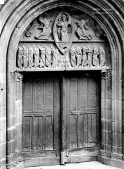 Eglise Notre-Dame-des-Miracles - Portail de la façade ouest : L'Ascension du Christ