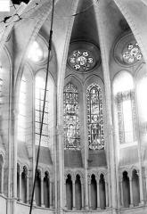Abbaye - Vue intérieure du choeur : Parties hautes