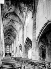 Eglise de Rembercourt - Vue intérieure de la nef vers le choeur