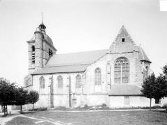 Eglise - Abside et croisillon sud du transept, état en 1915