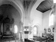 Eglise Saint-Pierre-de-Coulmiers - Vue intérieure du choeur et du transept sud