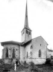 Eglise Saint-Maurice - Façade nord : Abside, clocher et transept