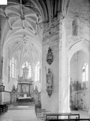 Eglise de la Nativité de la Vierge - Vue intérieure du choeur et du transept sud