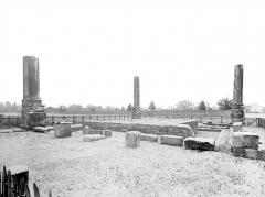 Ruines du temple romain - Vue d'ensemble