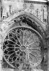 Cathédrale Notre-Dame - Façade ouest : Rose