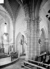 Eglise - Vue intérieure du transept sud et du choeur