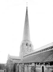 Eglise Saint-Maurice - Façade sud : Toitures et clocher